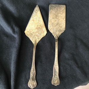 Vintage Silver-plate Cake and Pie Servers